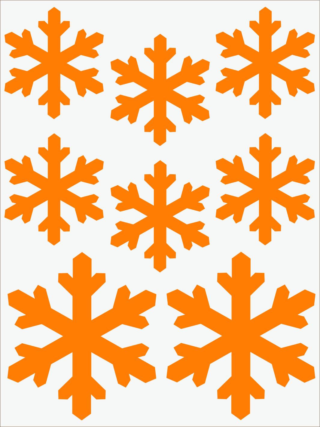 Vločky 2 neon oranžový