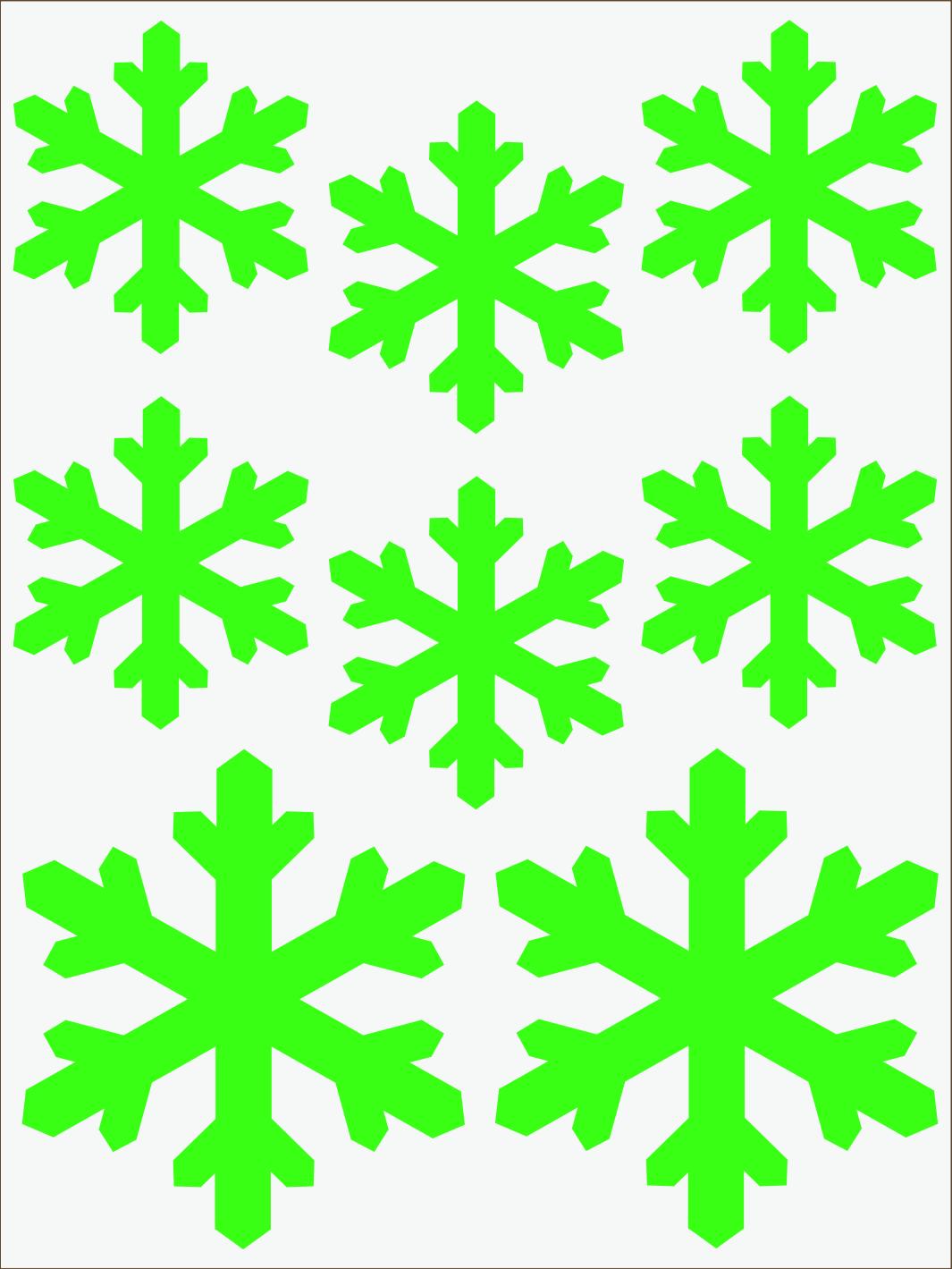 Vločky 2 neon zelený