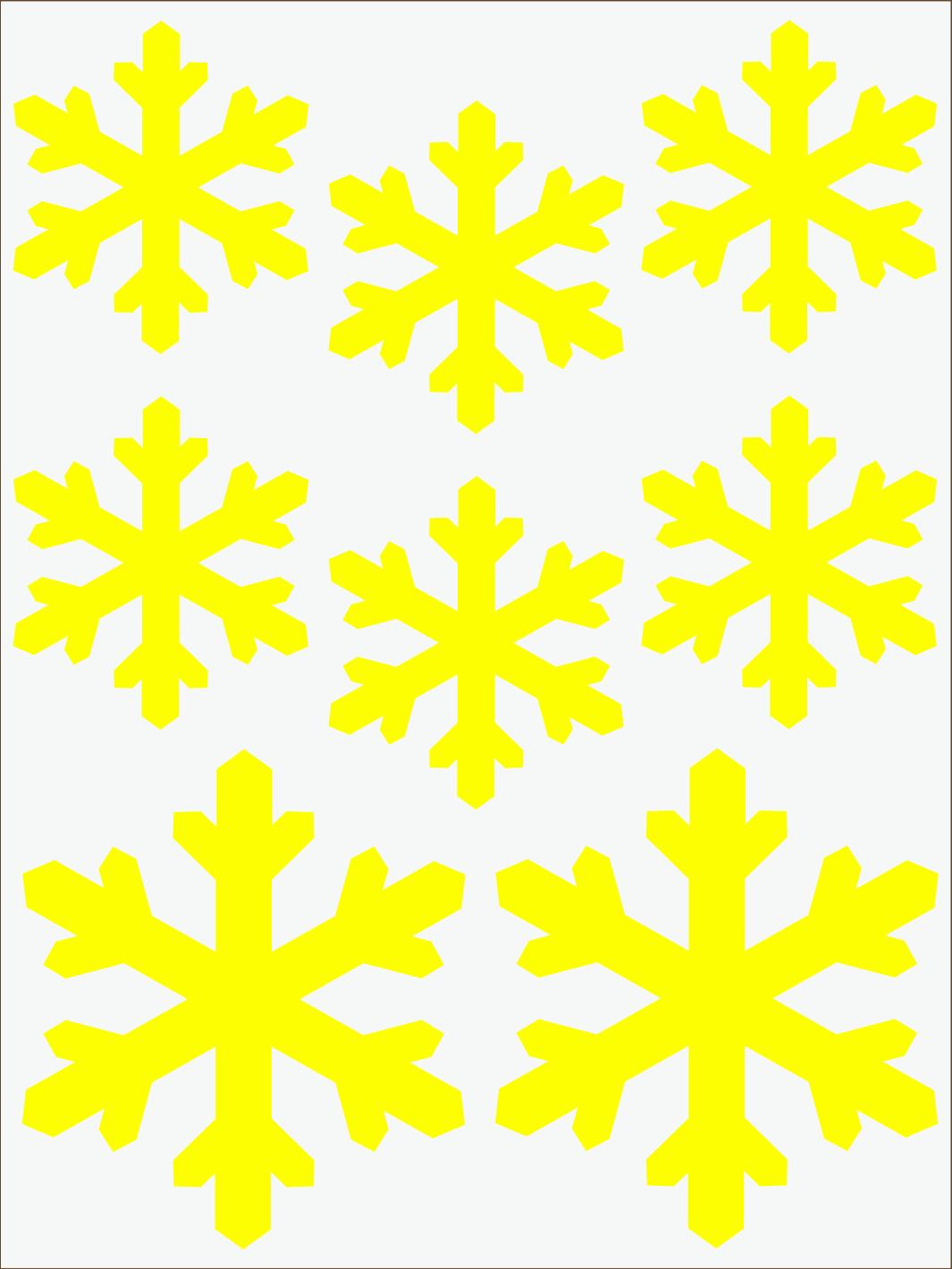 Vločky 2 neon žltý
