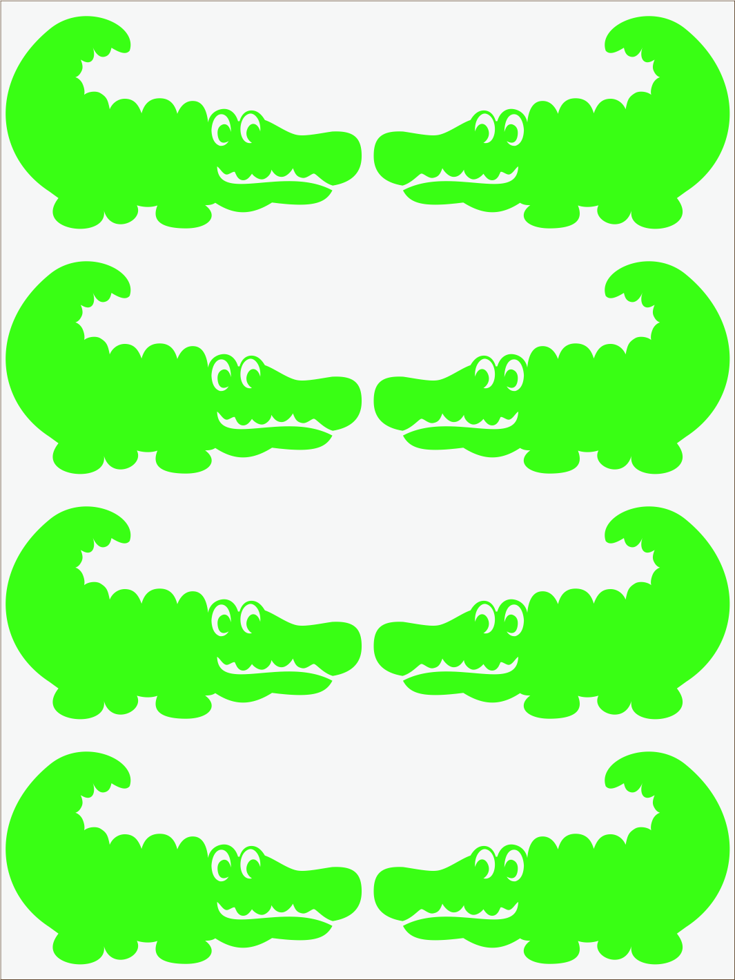 Krokodíl 2 neon zelený