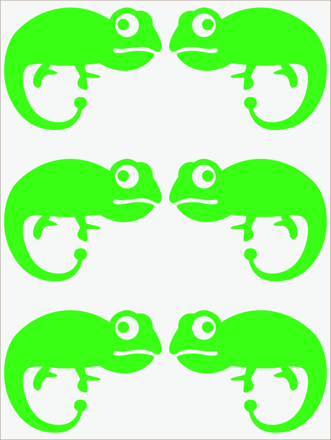 Chameleón Il neon zelený
