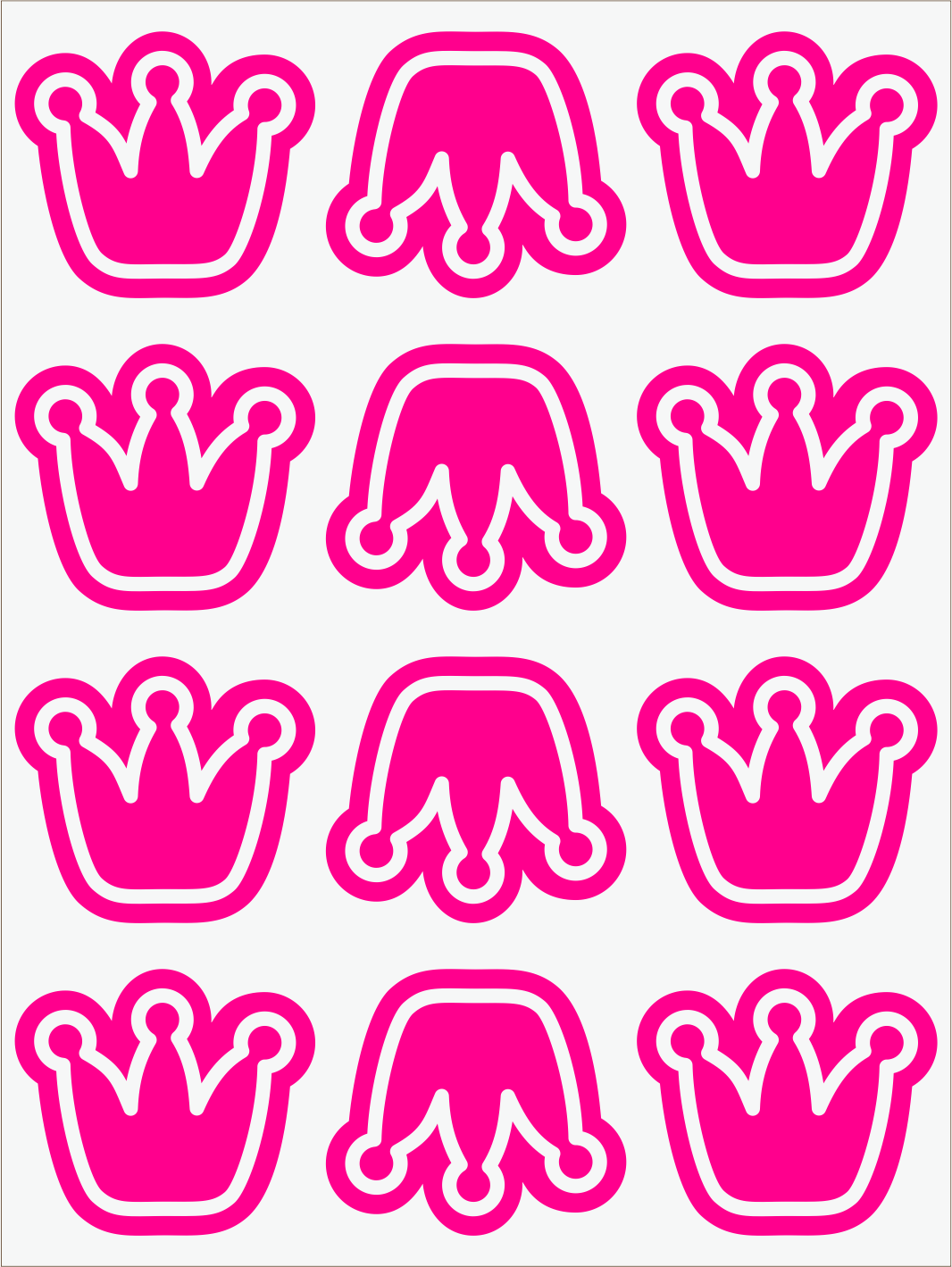 Koruny neon ružový