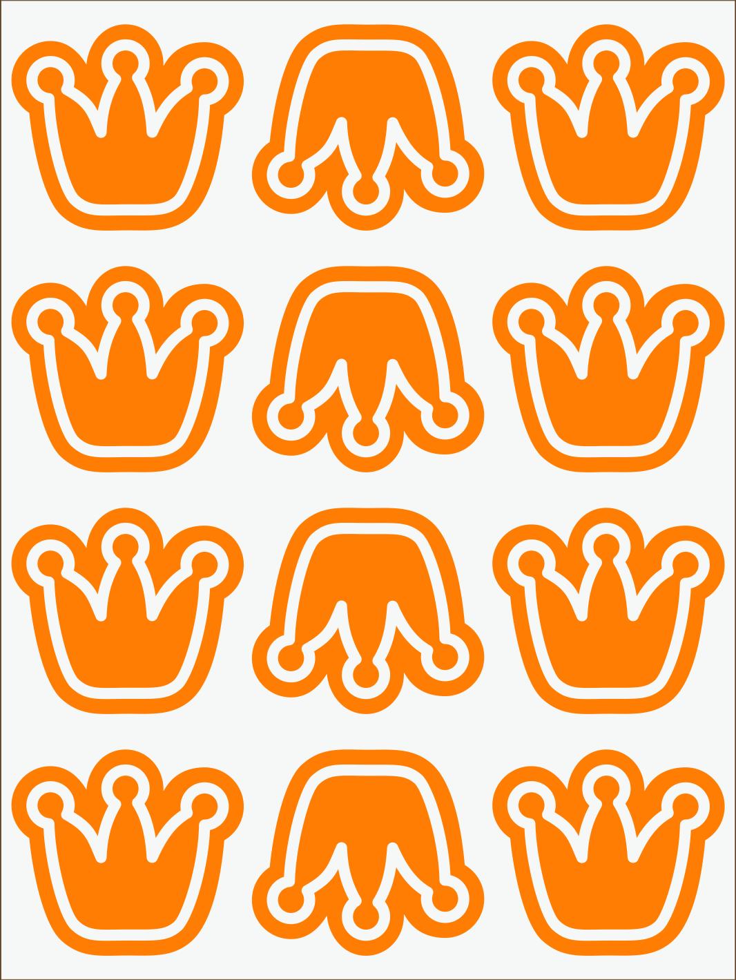 Koruny neon oranžový