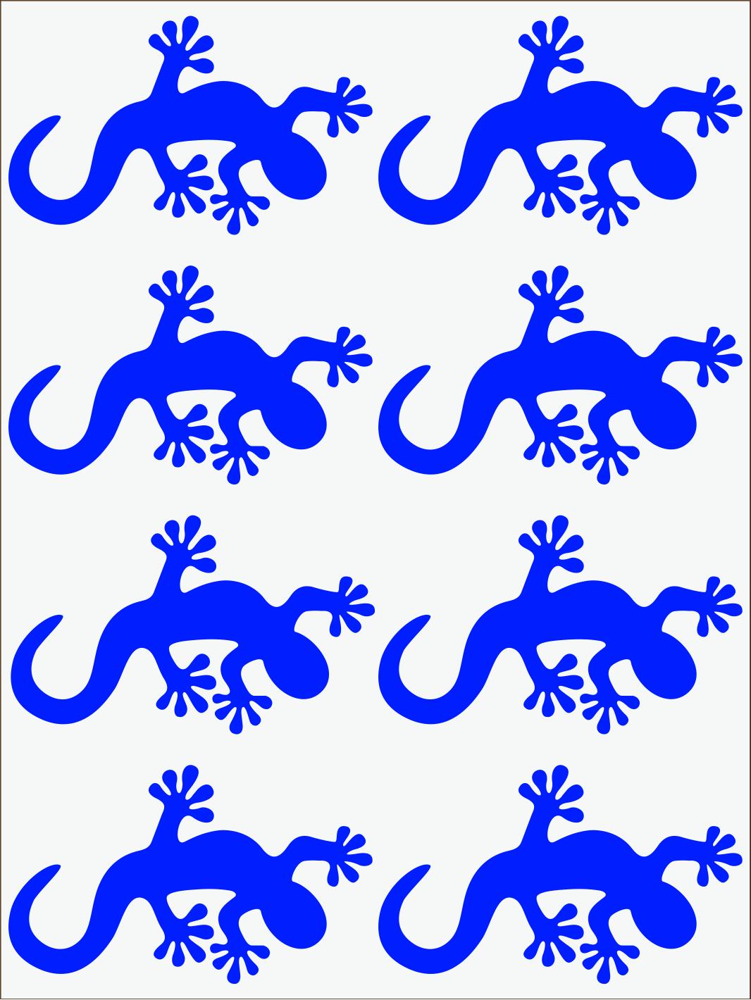 Salamandra 2 neon modrý