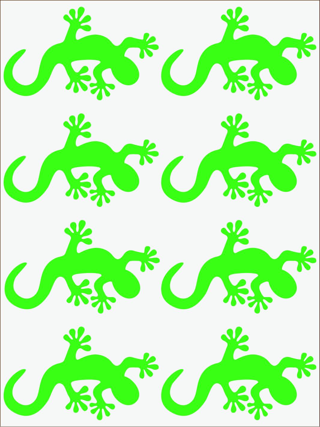Salamandra 2 neon zelený