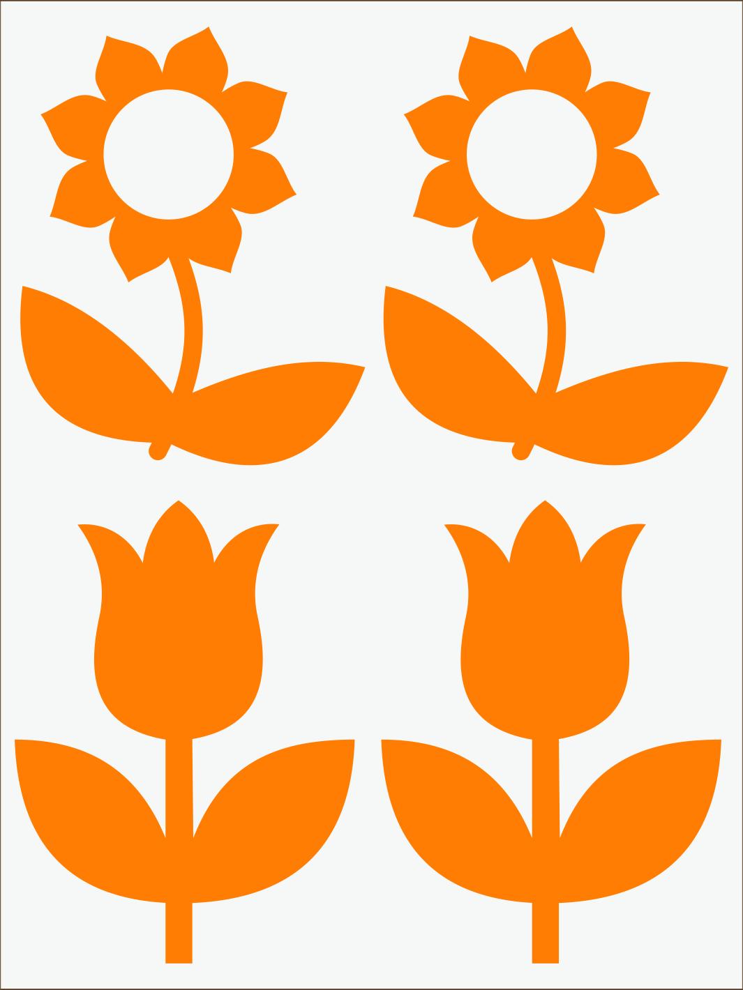 oranžový neon nažehľovačky Kvietky 2