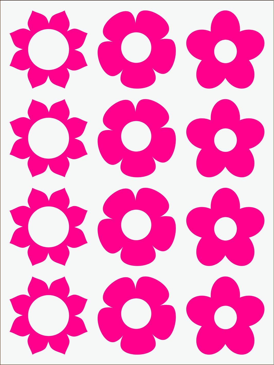 ružový neon nažehľovačky Kvietky 1