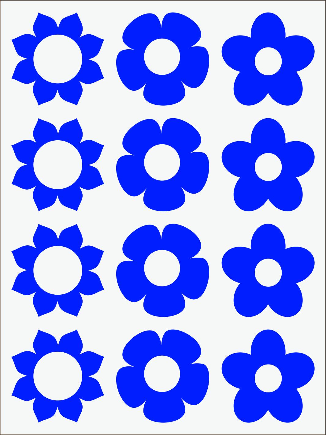 modrý neon nažehľovačky Kvietky 1