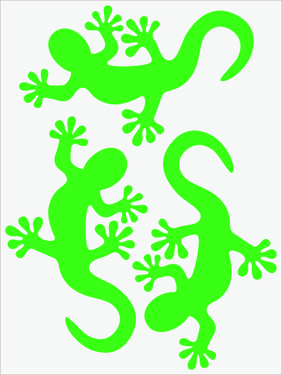 zelený neon nažehľovačky Salamandra