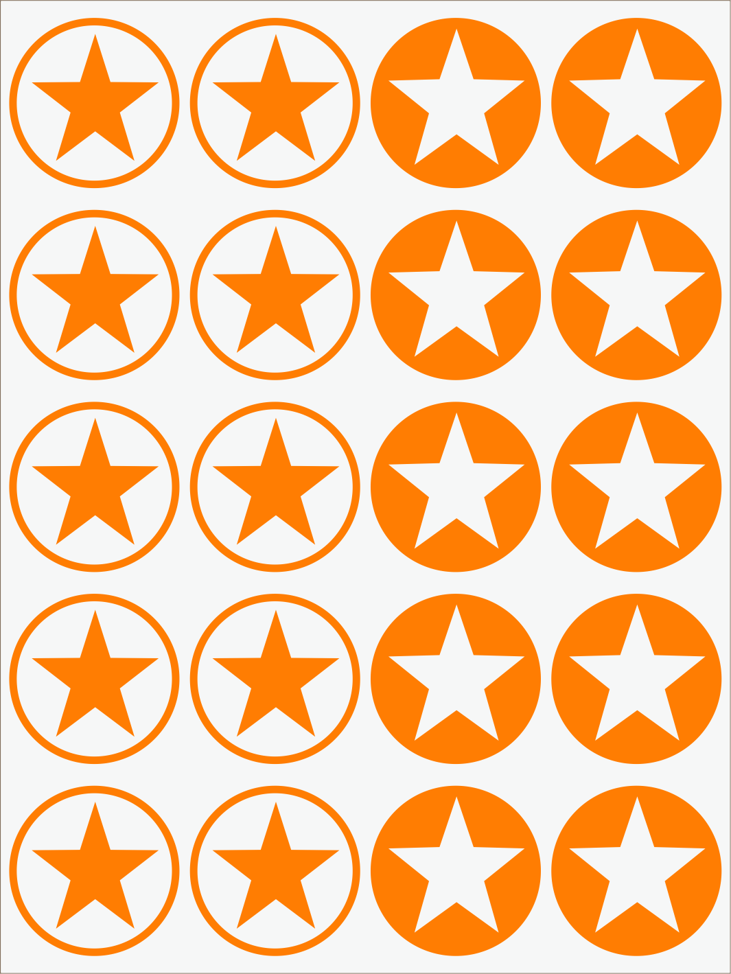 oranžový neon nažehľovačky Hviezdy 2