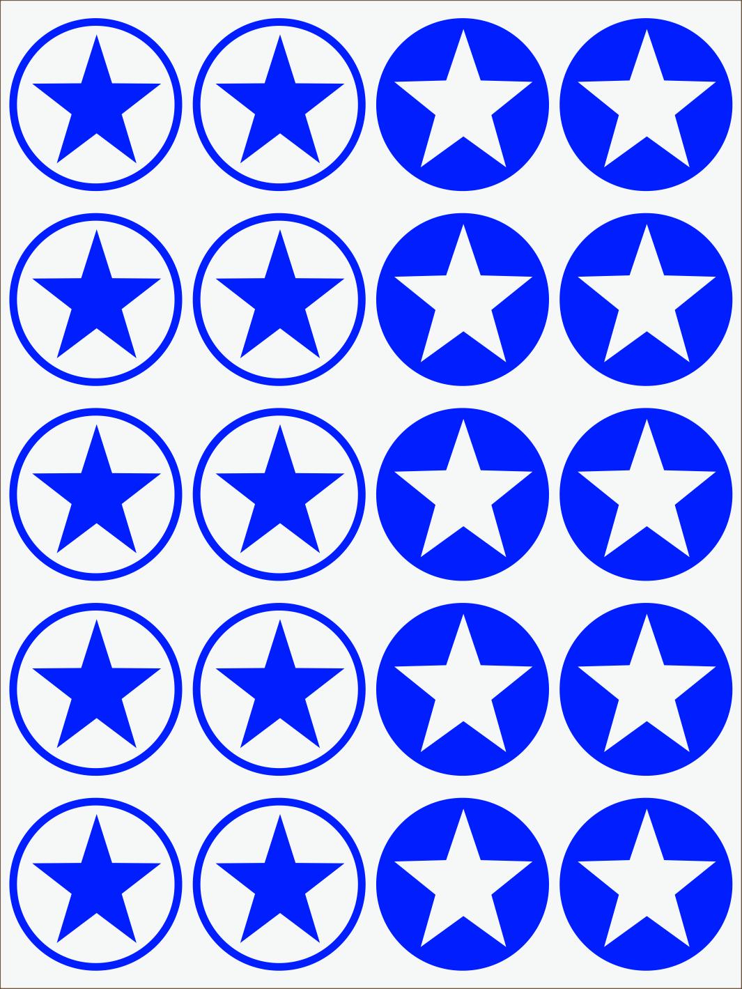 modrý neon nažehľovačky Hviezdy 2