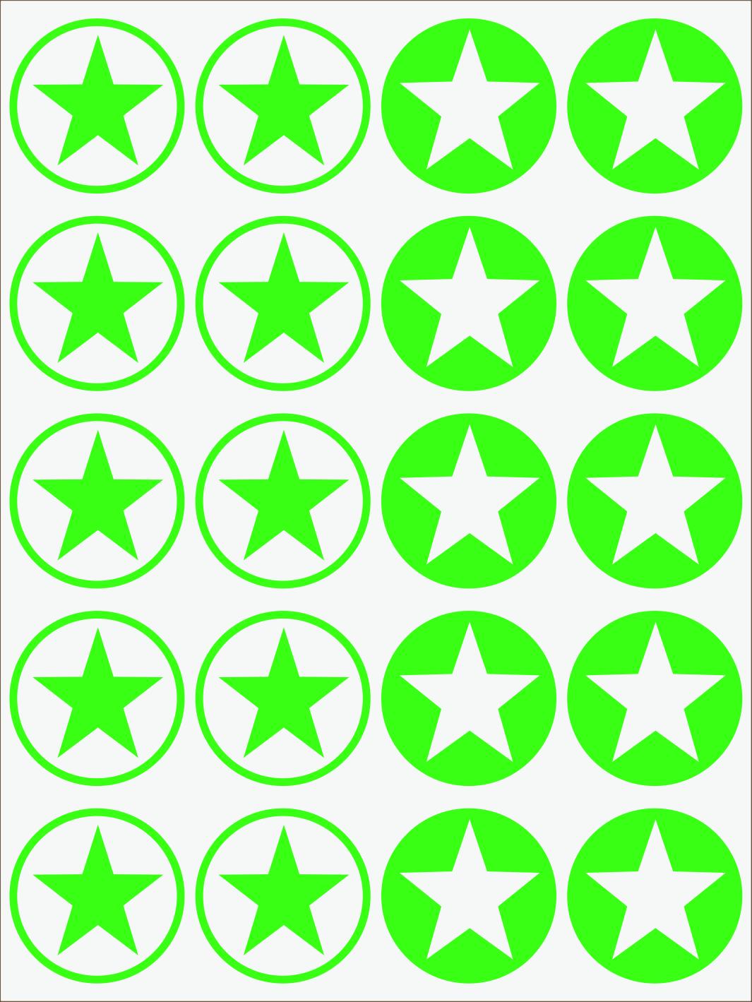 zelený neon nažehľovačky Hviezdy 2