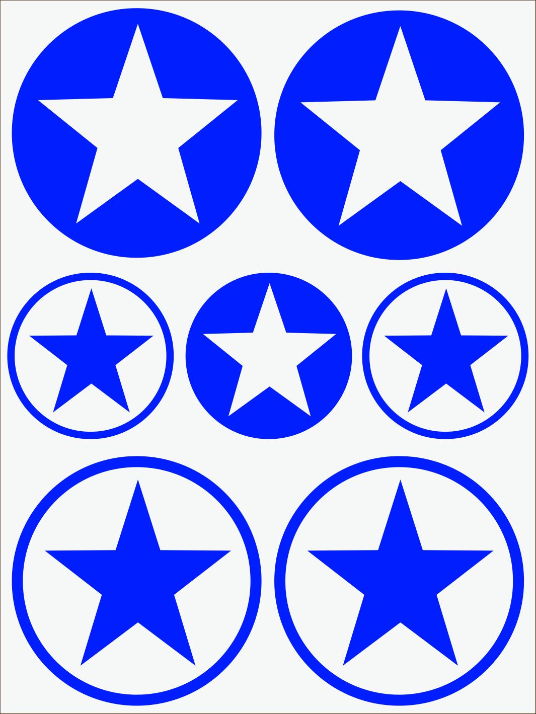 modrý neon nažehľovačky Hviezdy 1