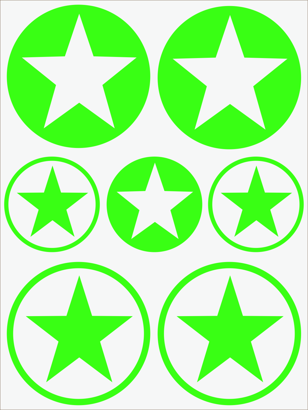 zelený neon nažehľovačky Hviezdy 1
