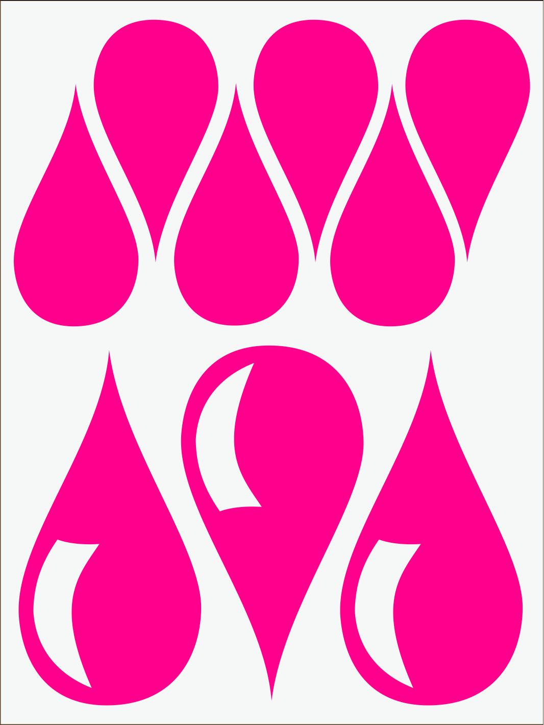 Kvapky 1 neon ružový IMG