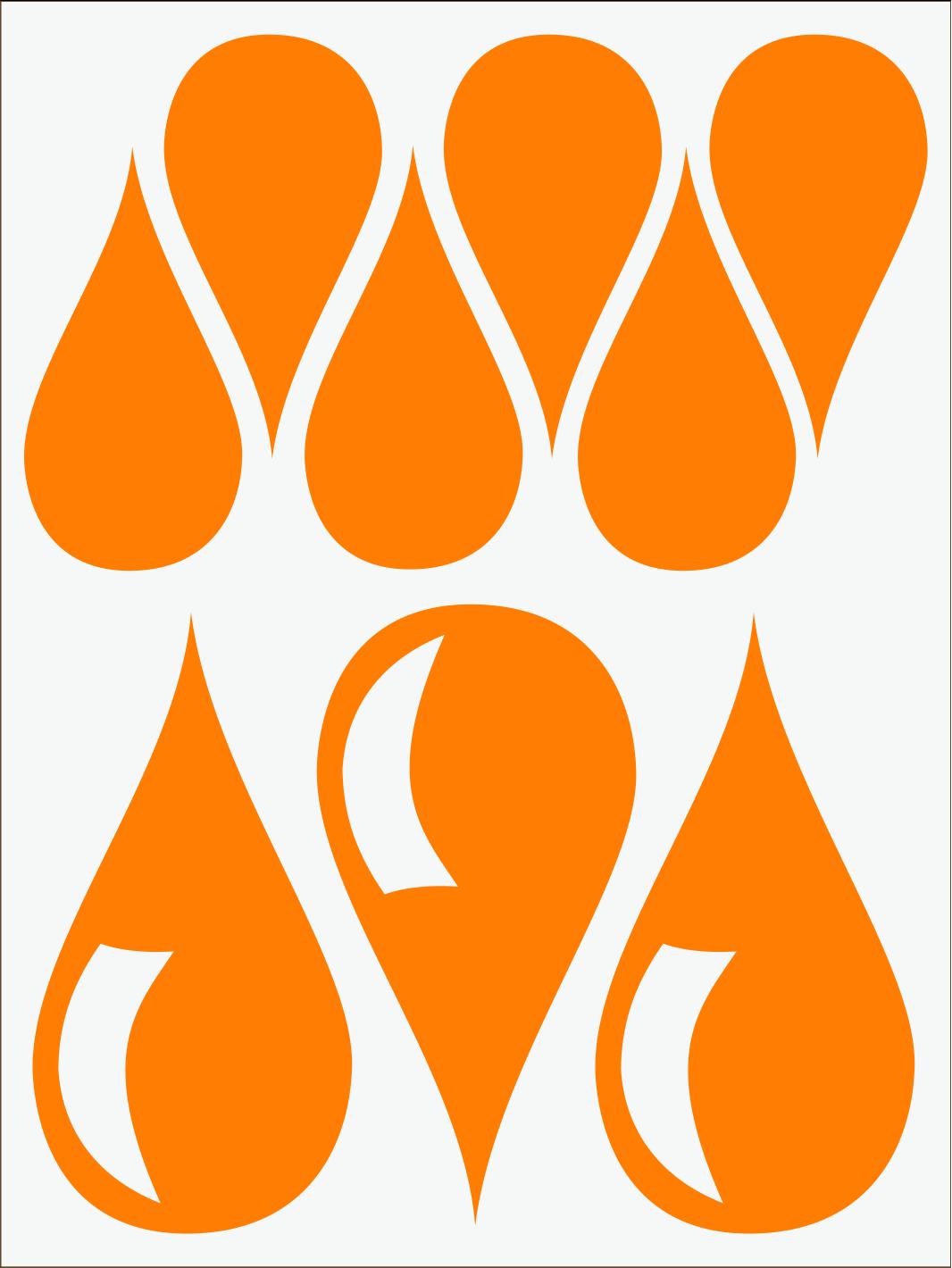 Kvapky 1 neon oranžový IMG