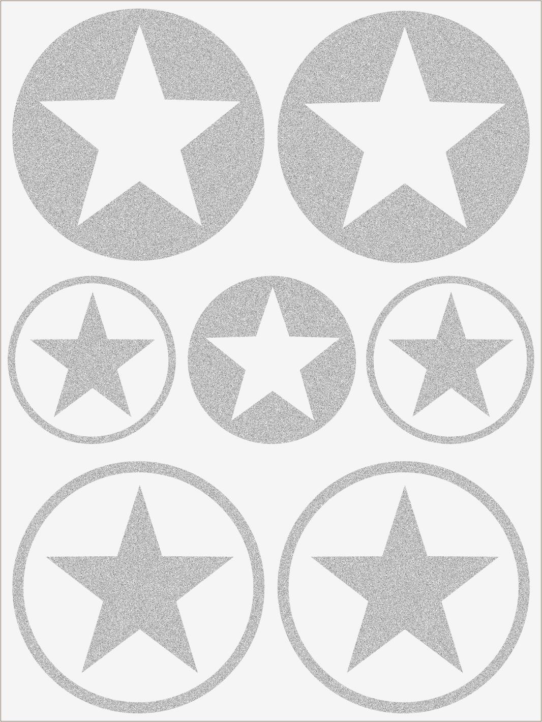 Reflexné nažehľovačky Hviezdy