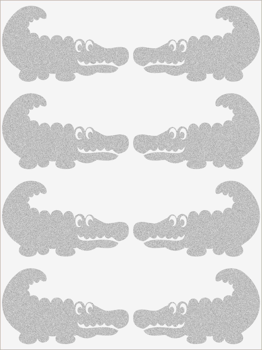Reflexné nažehľovačky Krokodíl