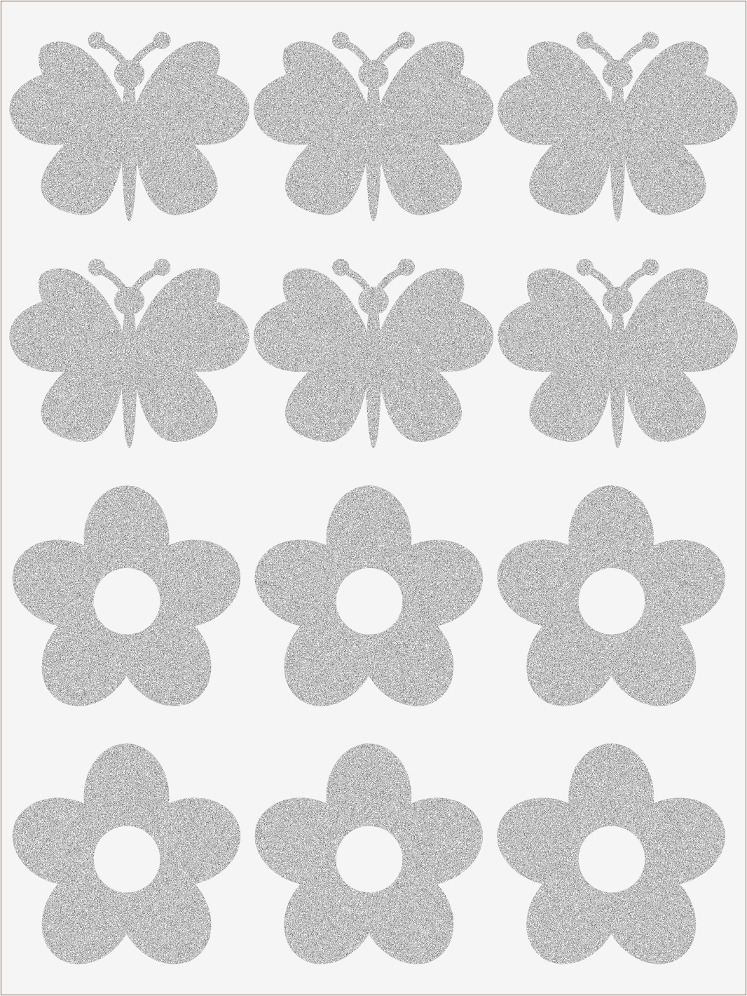 Reflexné nažehľovačky Kvietky a motýle